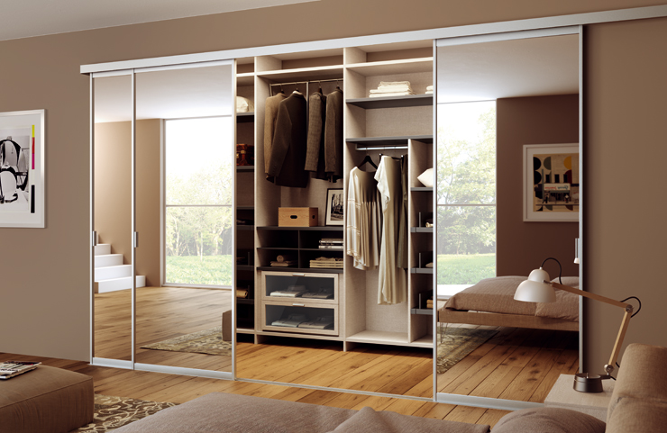 Cabina armadio con interno modulare